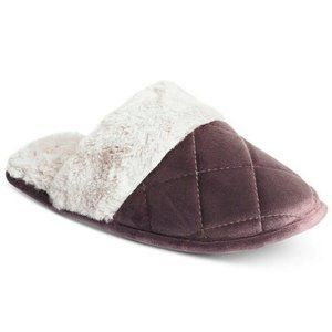 Charter Club Small 5/6 Quilted Velour Slippers